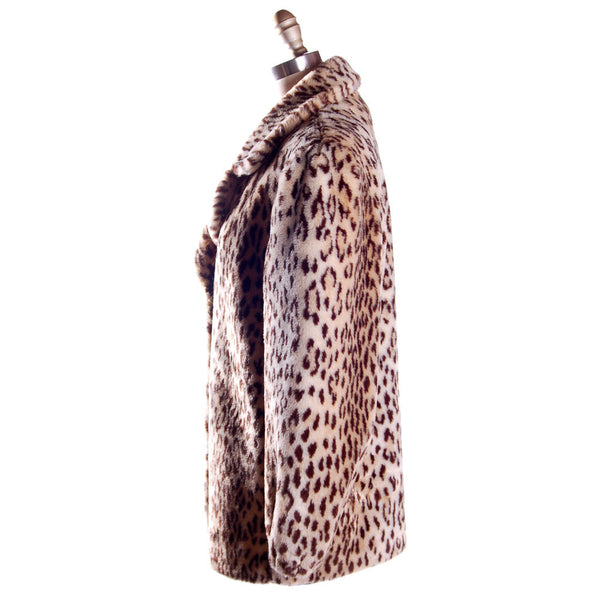 Vintage Faux Leopard Print Plush Short Coat 1980S - The Best Vintage Clothing  - 2