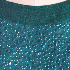 Vintage Blouse Silk Green Sequin Shell Royal Lynne 1950'S - The Best Vintage Clothing  - 4