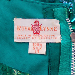 Vintage Blouse Silk Green Sequin Shell Royal Lynne 1950'S - The Best Vintage Clothing  - 5