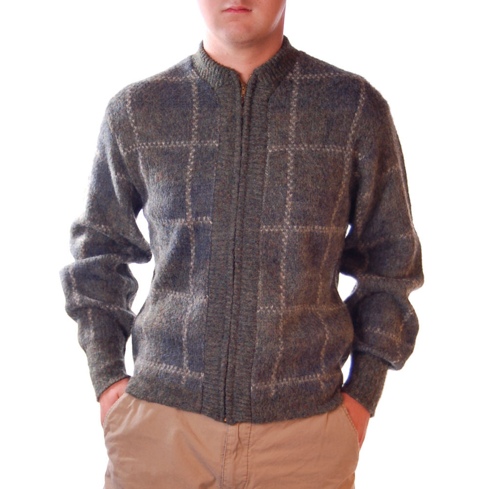Vintage Mens Zip Sweater Robert Bruce Fleecemore 1970S - The Best Vintage Clothing  - 1