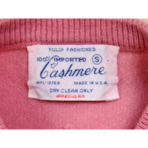 Vintage Womens Pink Cashmere Sweater Suit 1950s - The Best Vintage Clothing  - 6