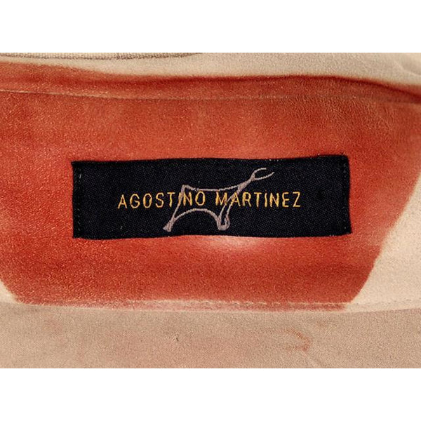 "Super Unique Vintage Agostino Martinez ""Suede"" Suit Small - The Best Vintage Clothing  - 8"