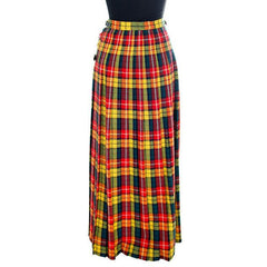 Vintage Ladies Scottish Maxi Skirt Made In Scotland Laird-Portch Small - The Best Vintage Clothing  - 4