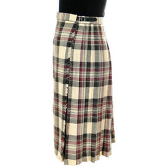 Vintage Scottish Plaid Kilt Skirt Pitlochry 100% Wool - The Best Vintage Clothing  - 2
