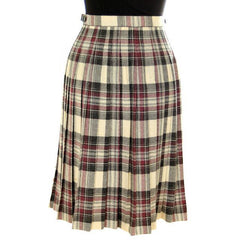 Vintage Scottish Plaid Kilt Skirt Pitlochry 100% Wool - The Best Vintage Clothing  - 3