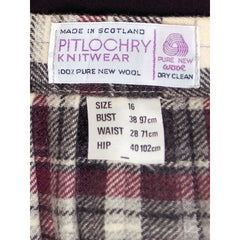 Vintage Scottish Plaid Kilt Skirt Pitlochry 100% Wool - The Best Vintage Clothing  - 5