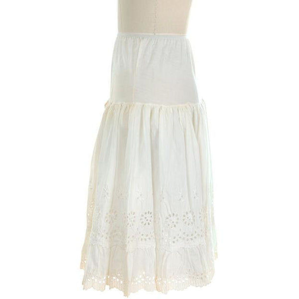 Vintage Can Can Petticoat White Cotton Eyelet 1950s New w/ Tags Size S - The Best Vintage Clothing  - 2