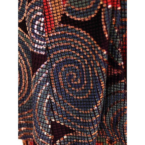 Vintage Ladies Suit Drippy Abstract Metallic Knit Caché 1980s Med - The Best Vintage Clothing  - 5