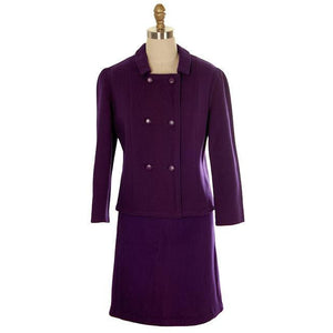 Vintage Ladies Suit Purple Wool Augusta Boutique Barcelona 1960s Small - The Best Vintage Clothing  - 1