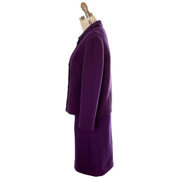 Vintage Ladies Suit Purple Wool Augusta Boutique Barcelona 1960s Small - The Best Vintage Clothing  - 2