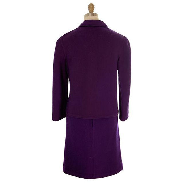 Vintage Ladies Suit Purple Wool Augusta Boutique Barcelona 1960s Small - The Best Vintage Clothing  - 3