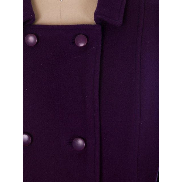 Vintage Ladies Suit Purple Wool Augusta Boutique Barcelona 1960s Small - The Best Vintage Clothing  - 4
