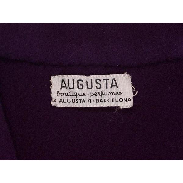 Vintage Ladies Suit Purple Wool Augusta Boutique Barcelona 1960s Small - The Best Vintage Clothing  - 6