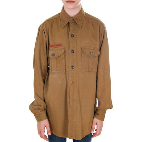 "Vintage Boy Scout Shirt 1940s Official 40"" Chest"