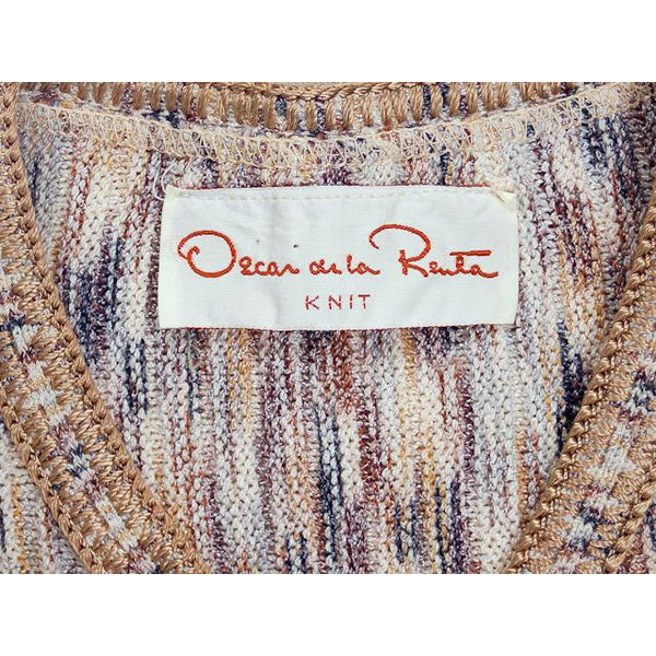Vintage Ladies Tweed Knit Sweater Suit Oscar De La Renta 1970s Small - The Best Vintage Clothing  - 6