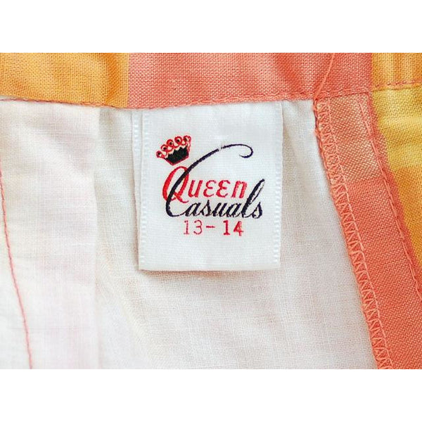 Vintage  Cotton Summer Skirt & Blouse 1950s Peach & Yellow Small - The Best Vintage Clothing  - 6