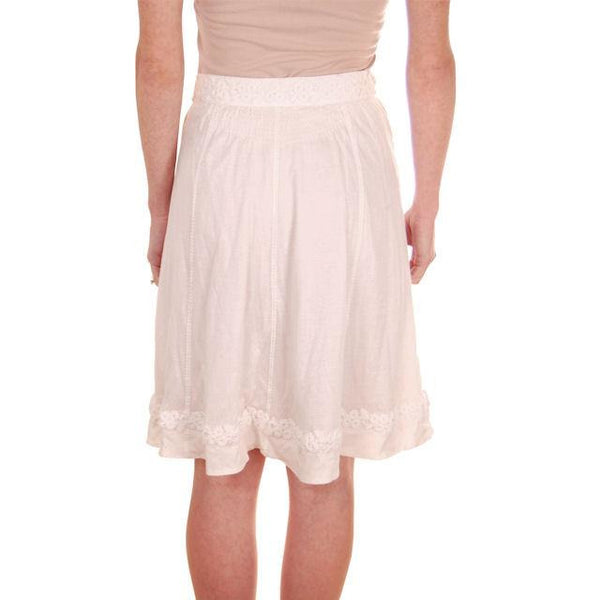 Authentic Louis Vuitton Paris White Cotton Short Skirt Size 36 Small - The Best Vintage Clothing  - 3