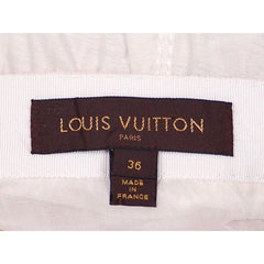 Authentic Louis Vuitton Paris White Cotton Short Skirt Size 36 Small - The Best Vintage Clothing  - 10