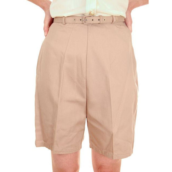 Vintage  Shorts 1960s Never Worn Beige Dan River Small - The Best Vintage Clothing  - 1