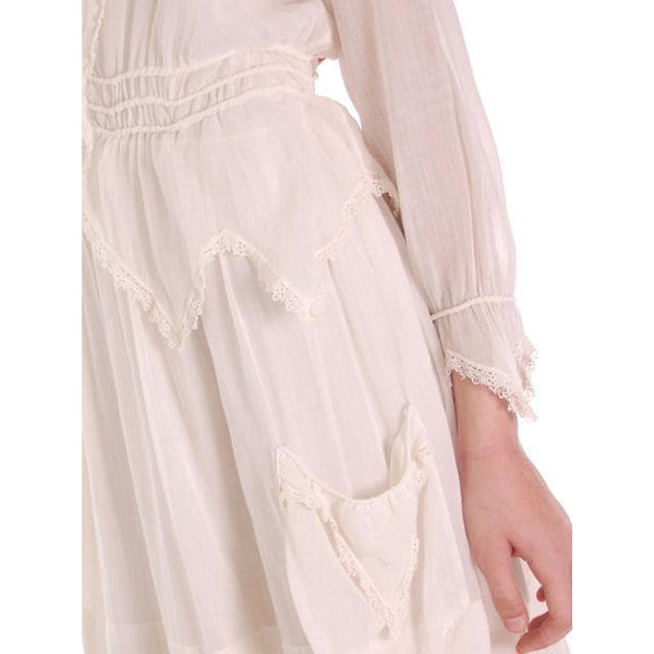 Vintage White Cotton Dress Titanic Era  1912-1914 36-27-Free - The Best Vintage Clothing  - 8