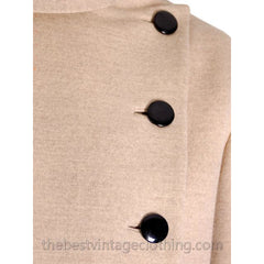 Vintage Norman Norell -Tassell  Wool Knit Suit 1970s Color Block Small - The Best Vintage Clothing  - 4