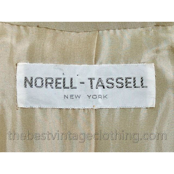 Vintage Norman Norell -Tassell  Wool Knit Suit 1970s Color Block Small - The Best Vintage Clothing  - 9
