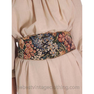 Vintage Tapestry Belt Stretchy Back Wide 1980s S-M - The Best Vintage Clothing