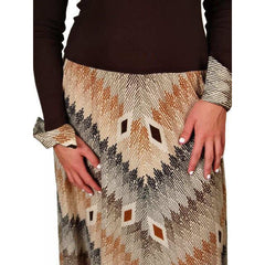 Vintage Brown Silk Knit Maxi Dress Vera Maxwell 1970S Missoni Look Size Large - The Best Vintage Clothing  - 4