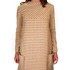 Vintage Mod Mini Dress Wool Hounds-tooth Check Craig 1970S 36 Bust - The Best Vintage Clothing  - 2