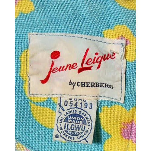 Vintage Mod Mini Dress Linen Print Jeune Leique 1970S 32 Bust - The Best Vintage Clothing  - 3