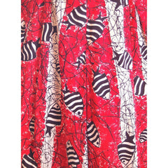 Vintage Culottes Dress Red/ Black Angel Fish Print Whimsical 1940s M-L - The Best Vintage Clothing  - 7