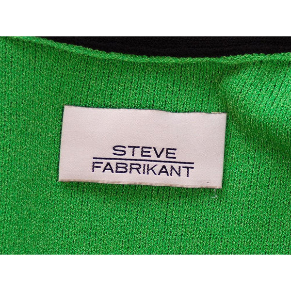 Vintage Green Color Block  Knit Dress Steve Fabrikant 1980S 40-36-39 - The Best Vintage Clothing  - 6