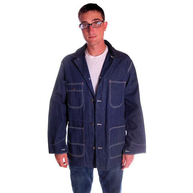 Vintage Sears Denim Work & Leisure Barn Coat Never Worn Medium - The Best Vintage Clothing  - 1