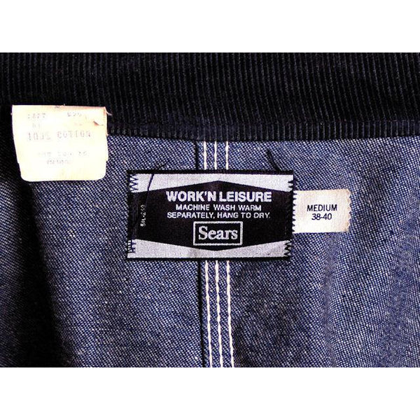 Vintage Sears Denim Work & Leisure Barn Coat Never Worn Medium - The Best Vintage Clothing  - 6