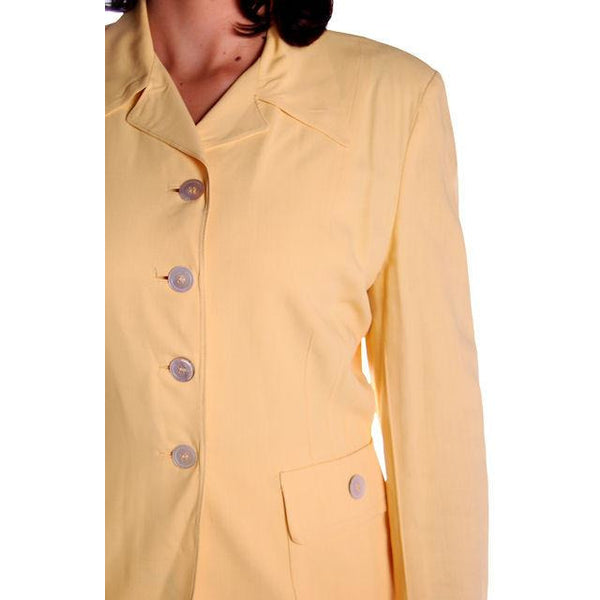 Vintage Yellow Rayon Gabardine Ladies Suit 1940s 41-29-42 - The Best Vintage Clothing  - 5