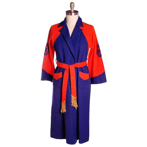 Vintage Mens Wool Robe Early Bucknell University Orange & Purple 1920s - The Best Vintage Clothing  - 1