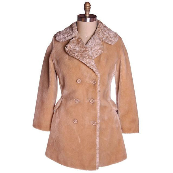 Vintage Faux Fur Plush Short Coat Borgana Russell Taylor 1970s 40 Bust - The Best Vintage Clothing  - 1