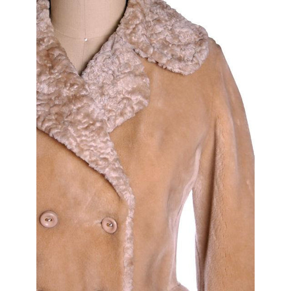 Vintage Faux Fur Plush Short Coat Borgana Russell Taylor 1970s 40 Bust - The Best Vintage Clothing  - 4