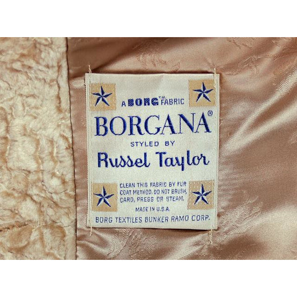 Vintage Faux Fur Plush Short Coat Borgana Russell Taylor 1970s 40 Bust - The Best Vintage Clothing  - 7