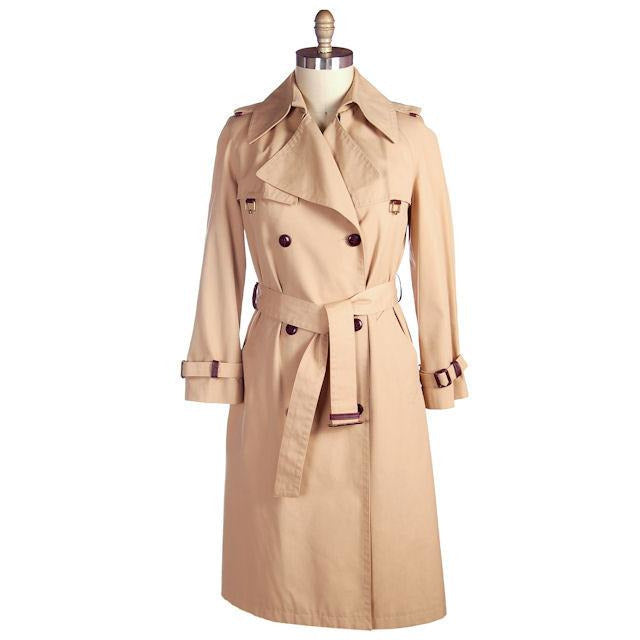 Vintage Etienne Aigner Trench Coat 1970s Size 38 Bust - The Best Vintage Clothing  - 1