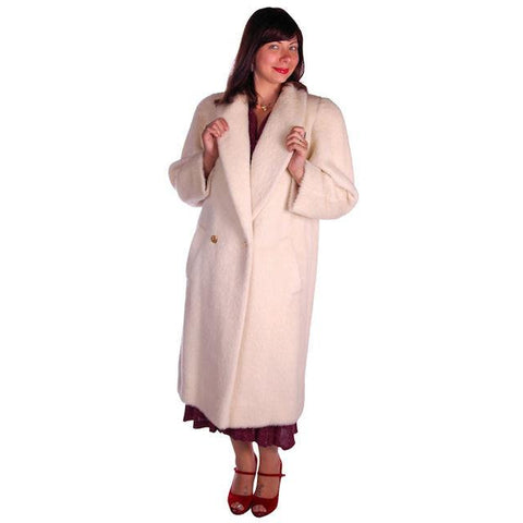 Vintage Christian Dior White Wool Coat 1980s Size 10