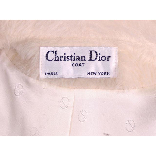 Vintage Christian Dior White Wool Coat 1980s Size 10 - The Best Vintage Clothing  - 8