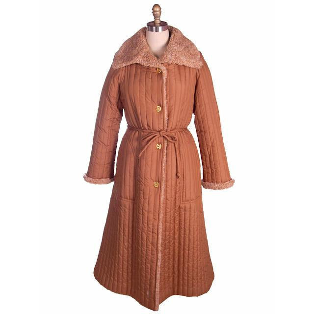 Vintage Bonnie Cashin For Russ Taylor Tan  Quilted Coat 1970s - The Best Vintage Clothing  - 1