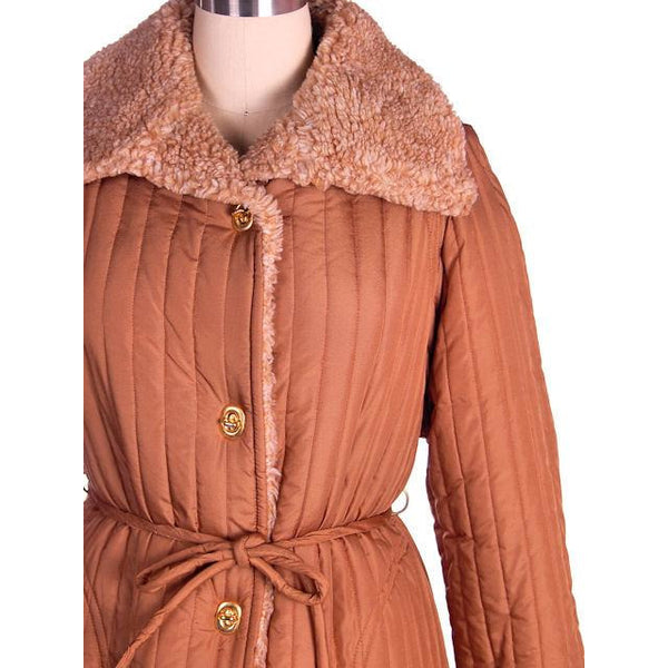Vintage Bonnie Cashin For Russ Taylor Tan  Quilted Coat 1970s - The Best Vintage Clothing  - 4