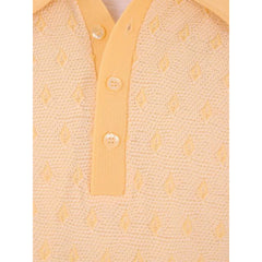 Vintage Mens Shirt Lucien Piccard Yellow Poly Uber 1970s - The Best Vintage Clothing  - 4