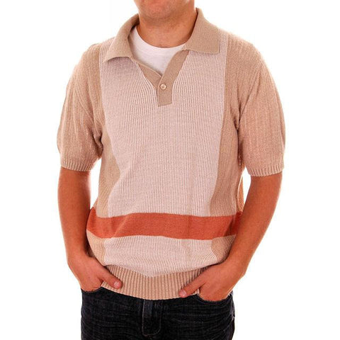 Mens Vintage Knit Shirt Pullover 1970s Medium - The Best Vintage Clothing  - 1