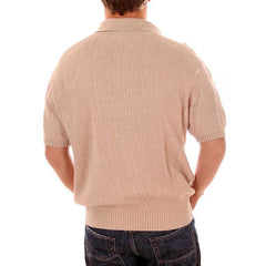 Mens Vintage Knit Shirt Pullover 1970s Medium - The Best Vintage Clothing  - 3