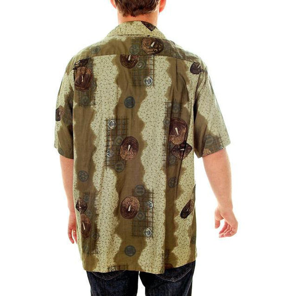 Vintage Mens Hawaiian Shirt Arnold Christensen Las Vegas 1960s L - The Best Vintage Clothing  - 3