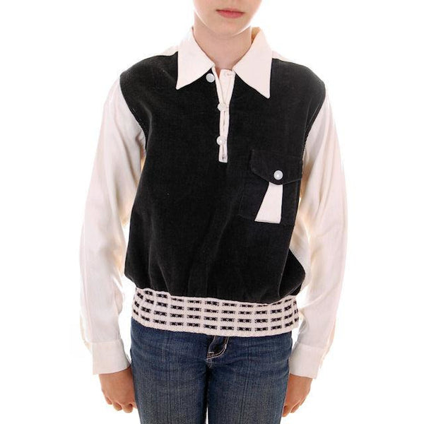 Boys Vintage Shirt 2-Tone GREAT Details 1950s Size 14 - The Best Vintage Clothing  - 1