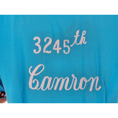 Vintage Mens Rayon Bowling Shirt Turquoise 3245th Camron Large - The Best Vintage Clothing  - 6